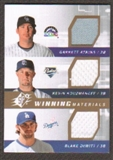 2009 Upper Deck SPx Winning Materials Triple #AKD Garrett Atkins/Kevin Kouzmanoff/Blake DeWitt