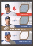 2009 Upper Deck SPx Winning Materials Triple #PKD Brad Penny/Jeff Kent/Blake DeWitt