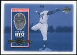 2000 Upper Deck Brooklyn Dodgers Master Collection #BD3 Pee Wee Reese /250