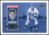 2000 Upper Deck Brooklyn Dodgers Master Collection #BD13 Carl Erskine /250