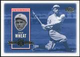 2000 Upper Deck Brooklyn Dodgers Master Collection #BD15 Zack Wheat /250