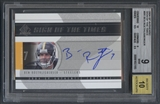 2004 SP Authentic #SOTBR Ben Roethlisberger Sign of the Times Rookie Auto BGS 9