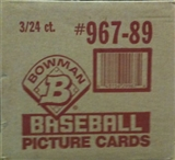 1989 Bowman Baseball Rack 3-Box Case