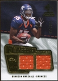 2008 Upper Deck SP Rookie Threads Flashback Fabrics #FFBM Brandon Marshall /115