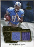 2008 Upper Deck SP Rookie Threads Flashback Fabrics #FFCJ Calvin Johnson /115
