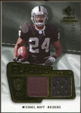 2008 Upper Deck SP Rookie Threads Flashback Fabrics 99-115 #FFMH Michael Huff /115