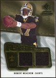 2008 Upper Deck SP Rookie Threads Flashback Fabrics 99-115 #FFRM Robert Meachem /115