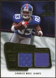 2008 Upper Deck SP Rookie Threads Flashback Fabrics #FFSM Sinorice Moss /115