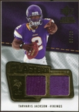 2008 Upper Deck SP Rookie Threads Flashback Fabrics #FFTJ Tarvaris Jackson /115