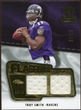 2008 Upper Deck SP Rookie Threads Flashback Fabrics 99-115 #FFTS Troy Smith /99