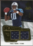 2008 Upper Deck SP Rookie Threads Flashback Fabrics 99-115 #FFVY Vince Young /99