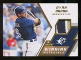 2009 Upper Deck SPx Winning Materials Patch #WMRB Ryan Braun /59