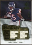 2008 Upper Deck SP Rookie Threads Flashback Fabrics #FFGW Garrett Wolfe /200