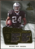 2008 Upper Deck SP Rookie Threads Flashback Fabrics 175-200 #FFMH Michael Huff /200
