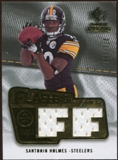 2008 Upper Deck SP Rookie Threads Flashback Fabrics #FFSH Santonio Holmes /200