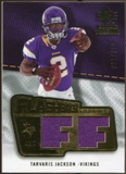 2008 Upper Deck SP Rookie Threads Flashback Fabrics #FFTJ Tarvaris Jackson /200