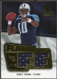 2008 Upper Deck SP Rookie Threads Flashback Fabrics 175-200 #FFVY Vince Young /175