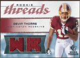 2008 Upper Deck SP Rookie Threads Rookie Threads 125 #RTDT Devin Thomas /125