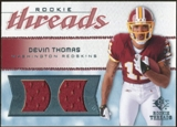 2008 Upper Deck SP Rookie Threads Rookie Threads 50 #RTDT Devin Thomas 17/50