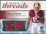 2008 Upper Deck SP Rookie Threads Rookie Threads 25 #RTDT Devin Thomas 22/25