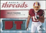 2008 Upper Deck SP Rookie Threads Rookie Threads #RTDT Devin Thomas /199