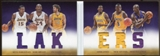 2012/13  Panini Preferred Lakers Memorabilia #2 Nick Van Exel/Kobe Bryant/Eddie Jones/Shaquille O'Neal /Metta
