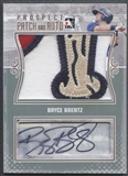2011 ITG Heroes and Prospects #BB Bryce Brentz Prospect Rookie Patch Auto Gold #1/1