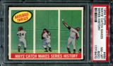 1959 Topps Baseball #464 Willie Mays' Catch Makes Series History PSA 8 (NM-MT) (OC) *8470