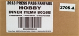2013 Press Pass Fanfare Racing Hobby 10-Box Case