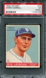 1933 Goudey Baseball #72 Owen Carroll PSA 5 (EX) (MC) *0756