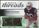 2008 Upper Deck SP Rookie Threads Rookie Threads Patch #RTDM Darren McFadden /15