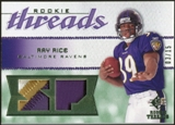 2008 Upper Deck SP Rookie Threads Rookie Threads Patch 15 #RTRR Ray Rice /15
