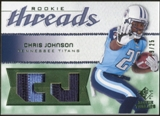 2008 Upper Deck SP Rookie Threads Rookie Threads Patch #RTCJ Chris Johnson /25