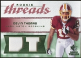 2008 Upper Deck SP Rookie Threads Rookie Threads Patch 25 #RTDT Devin Thomas /25