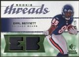 2008 Upper Deck SP Rookie Threads Rookie Threads Patch #RTEB Earl Bennett /25
