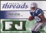 2008 Upper Deck SP Rookie Threads Rookie Threads Patch #RTFJ Felix Jones /25