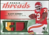 2008 Upper Deck SP Rookie Threads Rookie Threads Patch 25 #RTGD Glenn Dorsey /25