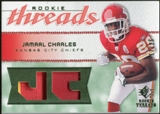 2008 Upper Deck SP Rookie Threads Rookie Threads Patch 25 #RTJC Jamaal Charles /25