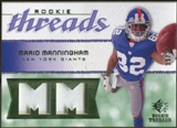 2008 Upper Deck SP Rookie Threads Rookie Threads Patch 25 #RTMM Mario Manningham /25