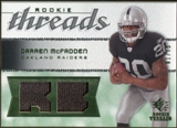 2008 Upper Deck SP Rookie Threads Rookie Threads Patch #RTDM Darren McFadden /75