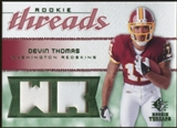 2008 Upper Deck SP Rookie Threads Rookie Threads Patch #RTDT Devin Thomas /75