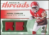 2008 Upper Deck SP Rookie Threads Rookie Threads Patch 75 #RTJC Jamaal Charles /75