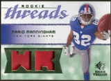 2008 Upper Deck SP Rookie Threads Rookie Threads Patch 75 #RTMM Mario Manningham /75
