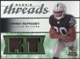 2008 Upper Deck SP Rookie Threads Rookie Threads Patch #RTDM Darren McFadden /99