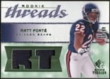 2008 Upper Deck SP Rookie Threads Rookie Threads Patch 99 #RTFO Matt Forte /99