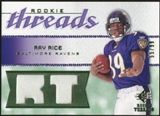 2008 Upper Deck SP Rookie Threads Rookie Threads Patch 99 #RTRR Ray Rice /99