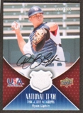 2009 Upper Deck USA National Team Jersey Autographs #RL Ryan Lipkin Autograph /225
