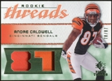 2008 Upper Deck SP Rookie Threads Patch Jersey Number #RTAC Andre Caldwell /87