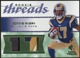 2008 Upper Deck SP Rookie Threads Patch Jersey Number #RTDA Donnie Avery /17