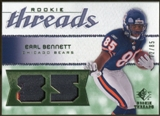 2008 Upper Deck SP Rookie Threads Patch Jersey Number #RTEB Earl Bennett /85